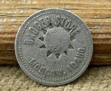 "ca 1900 MOSCOW IDAHO ID (WASHINGTON,  LATAH CO) 25C ""BADGER STORE"" STAMPED TOKEN"