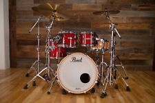 PEARL MASTERS MAPLE COMPLETE MCT 4 PIECE DRUM KIT VERMILLION SPARKLE (PRE-LOVED)