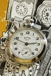 1959 Smiths Pocket Watch with Services Army Dial