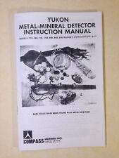 Compass Metal Detector Instruction Manual Yukon 70 & 90 Series & Coin Hustler
