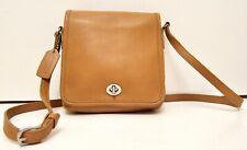 Vintage Coach Legacy Companion Flap Tan Saddle Brown Leather Crossbody Bag 9076