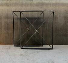 DIY Metal Table Legs - Flat bar U shape with X brace Handmade RAW