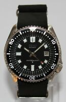 SEIKO 7002-7000 Vintage Diver Watch 6105 Dial Automatic Leather Strap