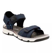 Clarks Explore Part Mens Blue Nubuck Flip Flops Strap Sandals Shoes 10