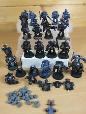 20 PLASTIC SPACE WOLF GREY HUNTERS PAINTED (1149)