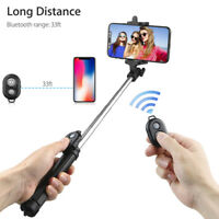 Extendable Selfie Stick Tripod Remote Bluetooth Shutter Fit For iPhone X 8 PluS-