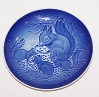 "LOVELY 1977 B&G BING & GRONDAHL DENMARK MOTHER'S DAY SQUIRREL & BABIES 6"" PLATE"