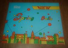 "Vintage Vending Machine Topper Card Sign ""New"" Spring Balls - Bouncing Balls 9x8"
