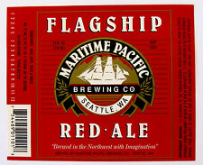 Maritime Pacific FLAGSHIP RED ALE beer label WA 12oz - Var. #3
