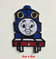 Train face cartoon art badge Embroidered Iron or Sew on Patch