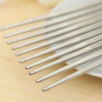 10 Pair Reusable Chopsticks Metal Korean Chinese Stainless Steel Chop Sticks US