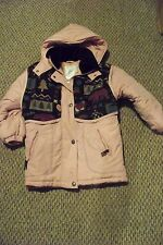 girls rothschild pink printed vest winter coat size medium 10/12