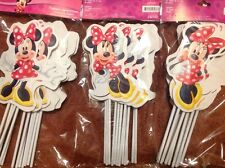 MINNIE MOUSE 12 Piece PARTY FAVOR Toppers! Great for Party Decor and Supplies