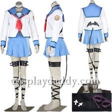 Angel Beats I Yui Girl Uniform cosplay costume Japanese Anime Outfit