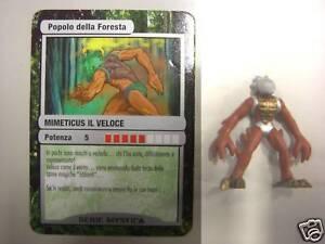 Personaggio Gioco Gormiti Mystica Popolo Foresta Mimeticus il Veloce ITALIANO IT