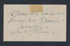 1932 BARONIN MARION VON BRAUN Autograph, German Noble