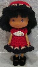 STRAWBERRY SHORTCAKE Doll Clothes #21 Handmade Crochet Dress & Hat Set