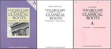 Vocabulary from Classical Roots A Student, Key & Test NEW