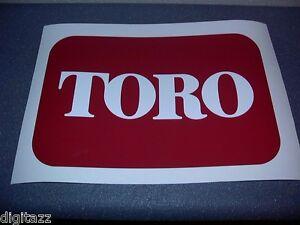 Large TORO Logo / Decal / Sticker 10 x 6.5     Pro Line  Walk Behind