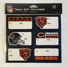 Chicago Bears Christmas Present Name Labels - Team Gift Stickers - To/From