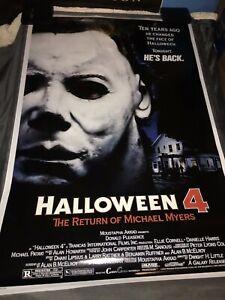 HALLOWEEN 4 Movie POSTER 24x36 1988 Michael Myers Slasher Freddy Jason