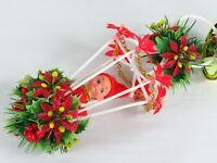 Vintage Elf Knee Hugger Christmas Ornament Mistletoe Pixie Plastic Hanging Bell