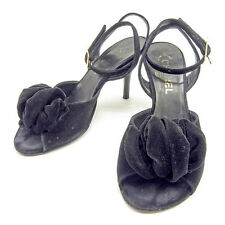 CHANEL Sandals Flower Motif Sandals Ladies Authentic Used T943