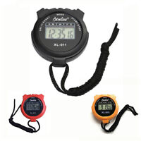 New Portable Digital Handheld Sports Stopwatch Stop Watch Timer Alarm Counter UK