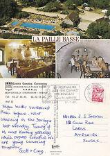 1995 CAMPING LA PAILLE BASSE DORDOGNE FRANCE COLOUR POSTCARD
