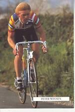 CYCLISME carte cycliste PETER WINNEN équipe PANASONIC ISOSTAR 1989