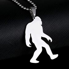 New Stainless Steel Bigfoot Big Foot Yeti Sasquatch Monster Ape Pendant Necklace