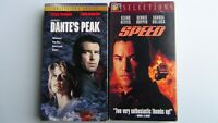 SPEED with Keanu Reeves 1994 and DANTE'S PEAK with Pierce Brosnan 1999 VHS