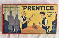 Vintage Toy Prentice Rubber Type Set  Superior Set No. 4000 by SME Co. Nostalgic