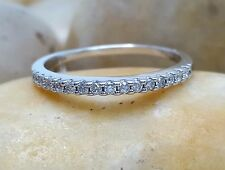 Diamond Eternity Thin Band in 14k White Gold 0.31Ct Diamond Classic Wedding Ring