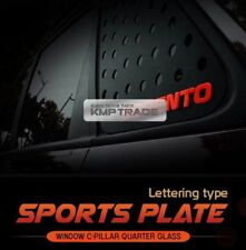 C Pillar Window Glass Sports Plate Molding Red Logo For BMW 2008-2014 X6 E71 E72