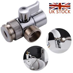 3 Way Sink Tap Mixer Faucet Diverter Valve For Bathroom Toilet Sprayer Part UK