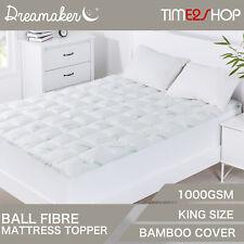 Dreamaker 9009272 Bamboo Covered Ball Fibre Mattress Topper - White