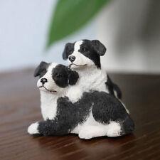 Resin MINI  Border Collie Dog Hand Painted simulation model Figurine Statue