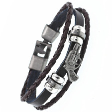 2019 Multilayer Bracelet WOMEN/MEN Casual Fashion Braided Leather Punk Rock 121