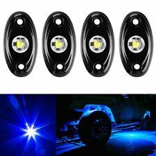 Blue LED Rock Light w/4Pods Lights For JEEP Off Road Truck Car ATV Under Body x4