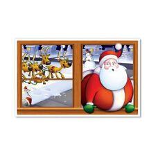Santa Window Christmas Holiday Party Backdrop InstaView Wall Decoration