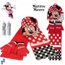 DISNEY Kinder Winter 3er Set Mütze Schal Handschuhe Minnie Mouse