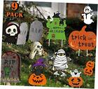 Halloween Decorations Outdoor Yard Signs with Stakes, Trick or Treat Orange