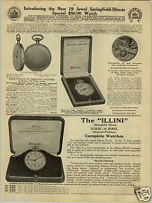 1924 PAPER AD Springfield Illinois Illini Pocket Watch Special Elgin Railroad