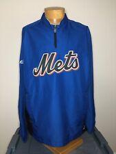 New York Mets Blue Cool Base Majestic Windbreaker Jacket Size Large