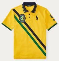 Polo Ralph Lauren Men's Custom Slim Fit BRAZIL Soccer Team Shirt. NWT. XL