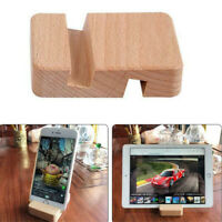 Universal For Phone Wood Mobile Phone Wooden Stand Rack Bracket Holder