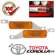 Toyota Coralla DX KE70 TE72 Front Bumper Amber Turn Signal Light Lamp 79-83 Pair