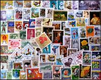 HUNGARY 825 All Different Thematic Postage Stamps, Mostly Large & Used Stamps