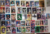 HALL OF FAME Stars Rookie Baseball Card Lot 1980sRC Maddux Smoltz Justice ALOMAR